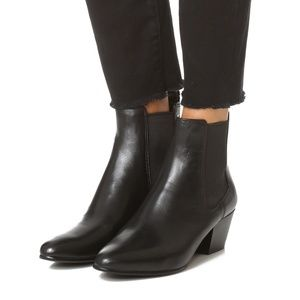 Sam Edelman Black Leather Reesa Chelsea Boot